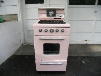 1950 S Antique Pink Dixie Stove Oven With Original Owner S