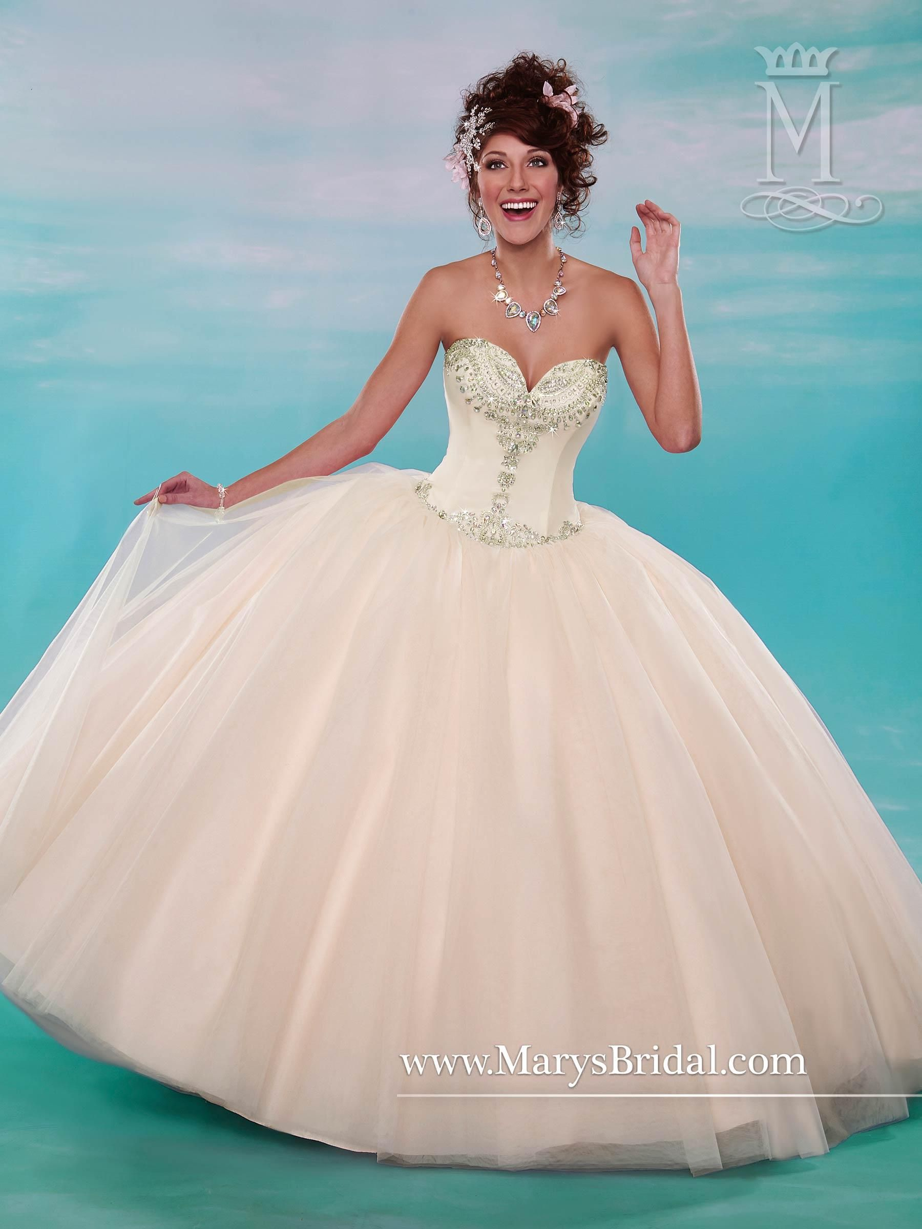 Mary\'s Champagne Quinceanera Dresses 2015 Fall Sweetheart Beaded ...