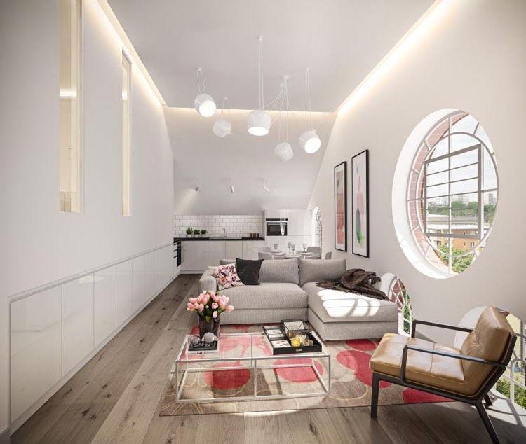 Marvelous Leuchte Aim Von Flos In Weiß Im Wohnzimmer Nice Ideas