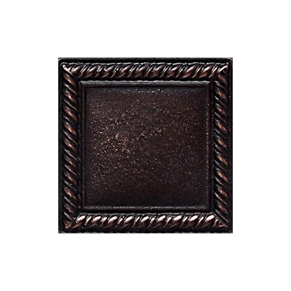 Decorative Accent Tile Mesmerizing Daltile Ion Metals Oil Rubbed Bronze 2 Inx 2 Incomposite Of Design Inspiration