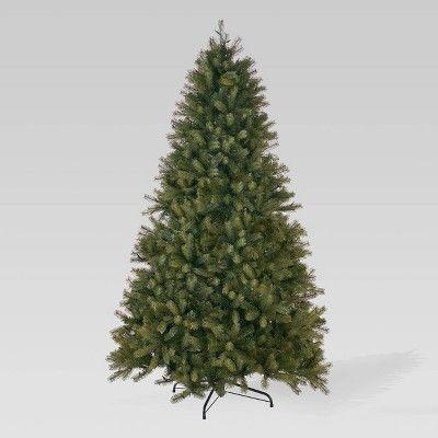 viva artificial 9 pies de abeto mixto pre-encendido completo luces de árbol de Navidad artificiale