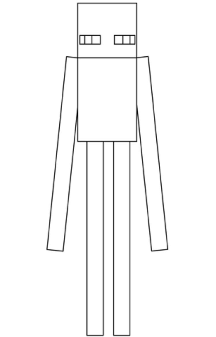 Minecraft Coloring Pages Enderman Download Or Print The Image