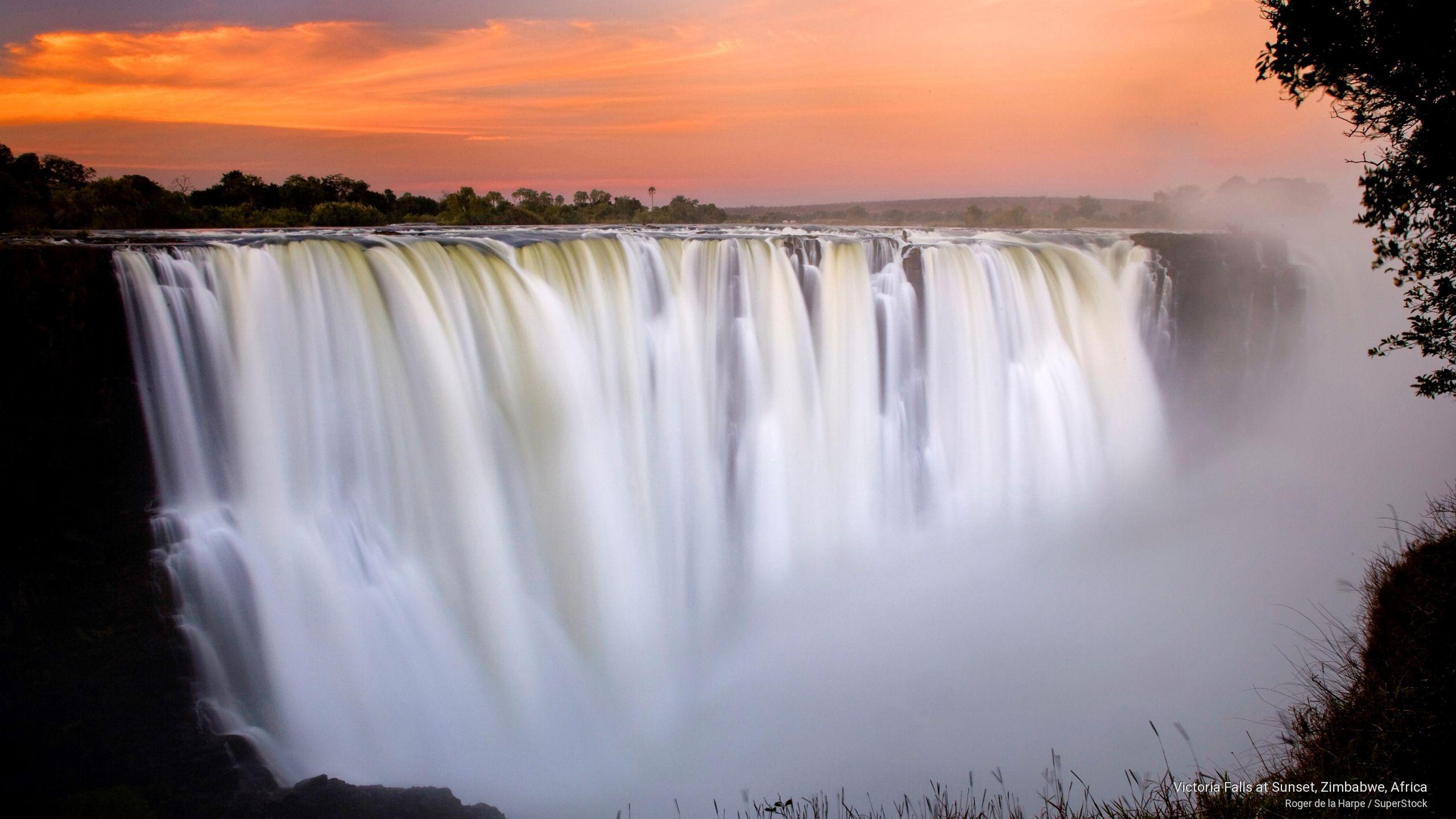 Victoria Falls At Sunset Zimbabwe Africa Victoria Falls