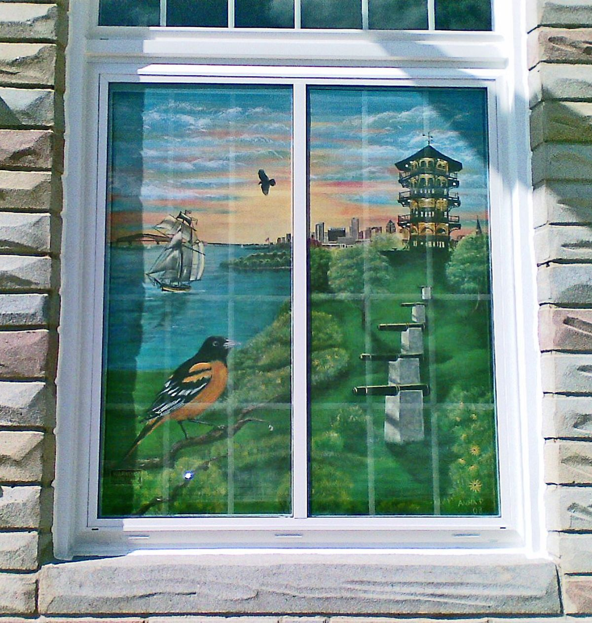 Then And Now Homes Screen Painting Window Painting Painted Window Screens