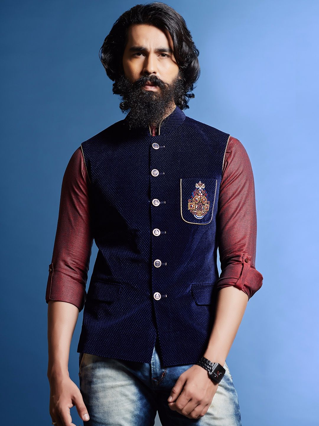 simple jacket goes a long way | Indian men fashion, Ethnic ...