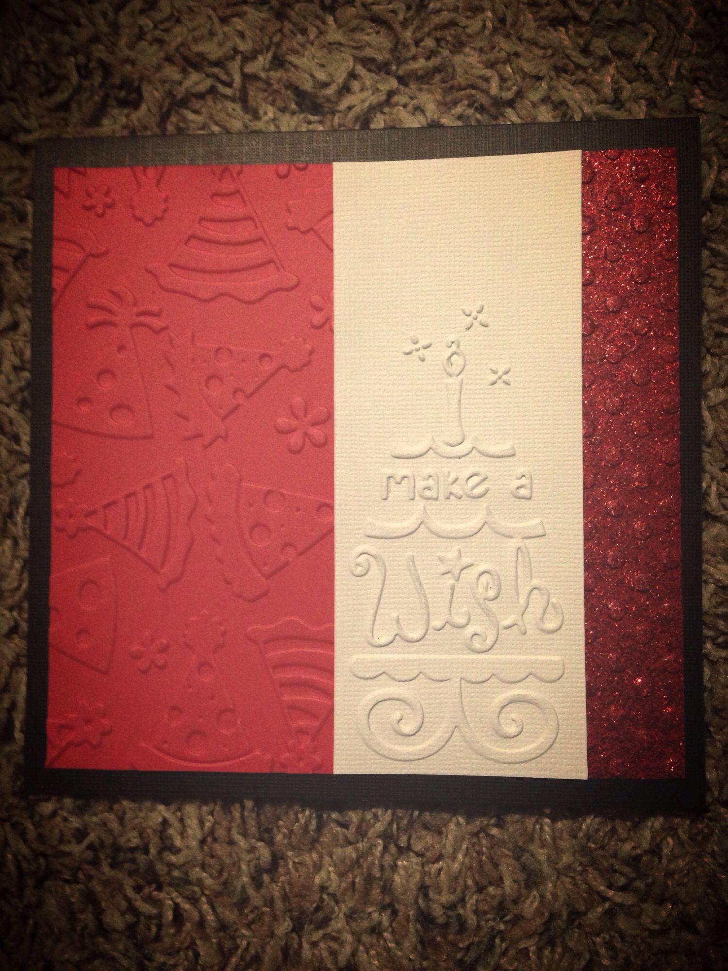 handmade card  red  black birthday  cards handmade