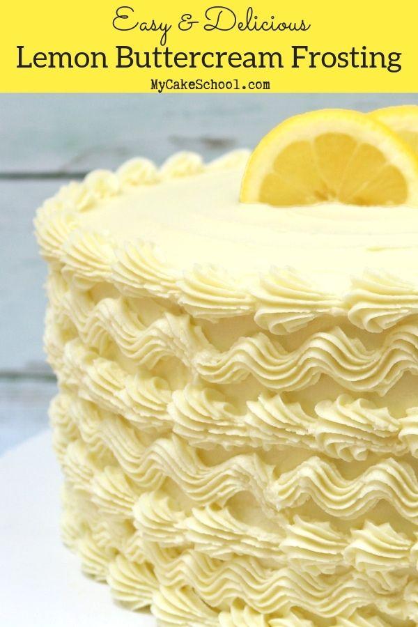 Lemon Buttercream Frosting #lemonbuttercream