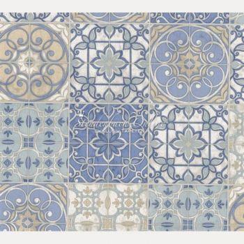 Fliesen Mit Tapete überkleben küchen tapete landhaus fliesen ornamente mandala floor