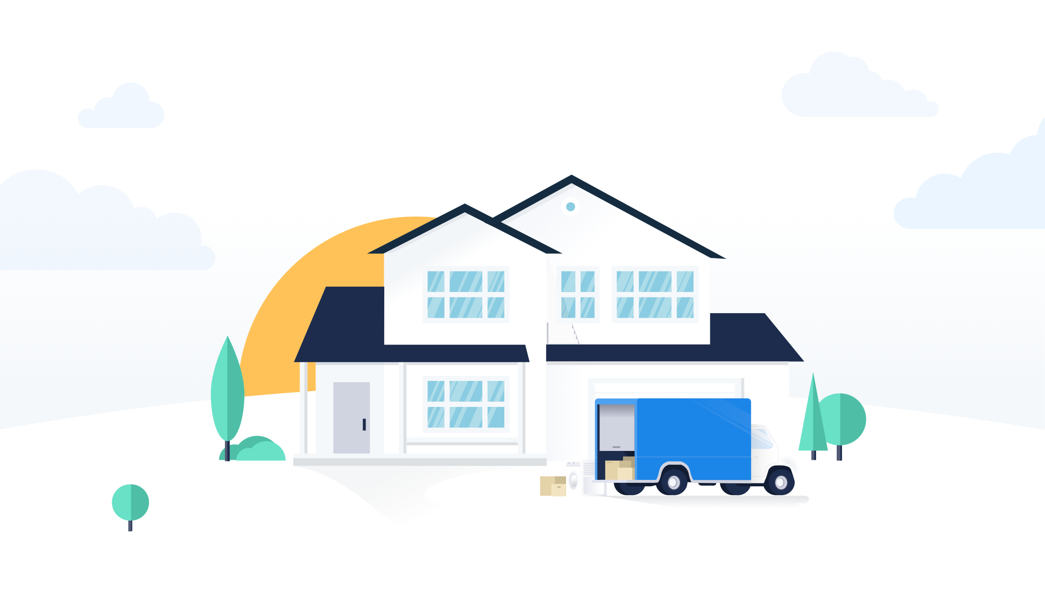 Dribbble House Moving Truck Illustration Lowres Png By Nicolas Solerieu Moving House Moving Truck Moving House Quotes