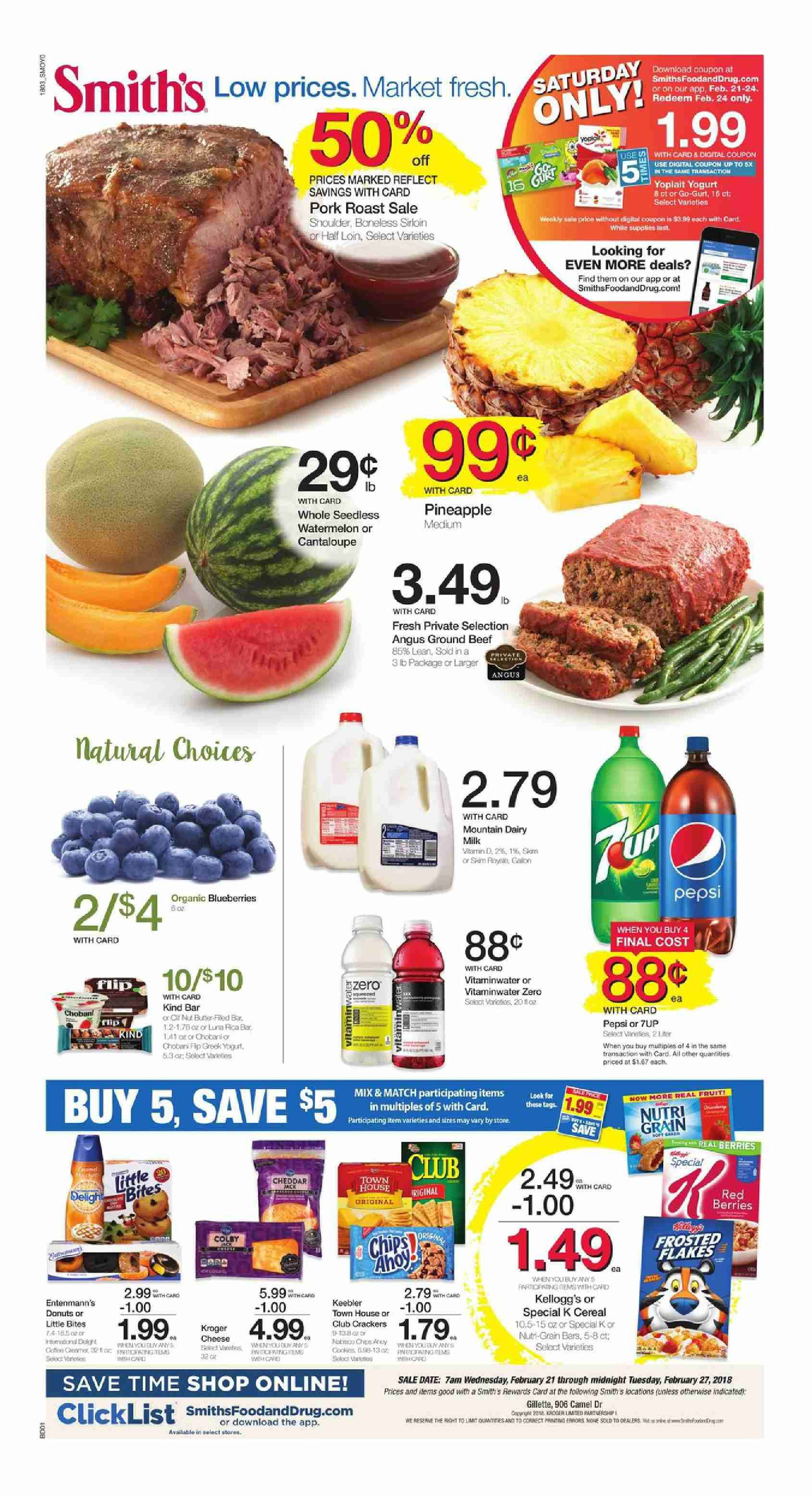 2018 Customer Will Find Digital Coupons Smiths Weekly Specials Recipe Bakery Menu Prices Grocery Savings Store Location