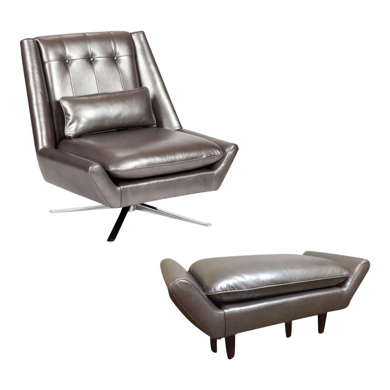 Best Image Of Elite Leather Mid Century Modern Chair And 400 x 300
