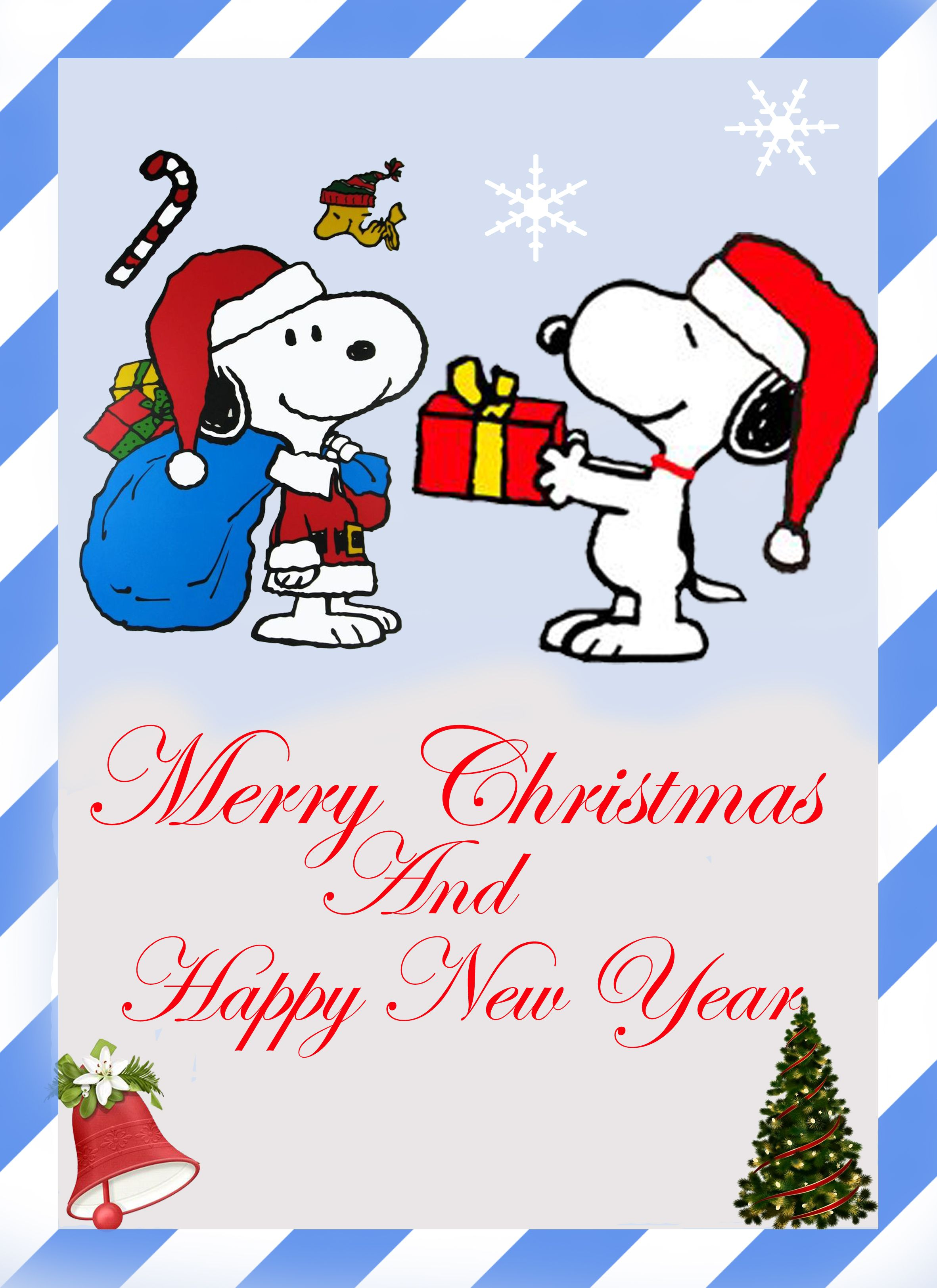 Snoopy Christmas Cards.Merry Christmas And Happy New Year Works Snoopy Snoopy