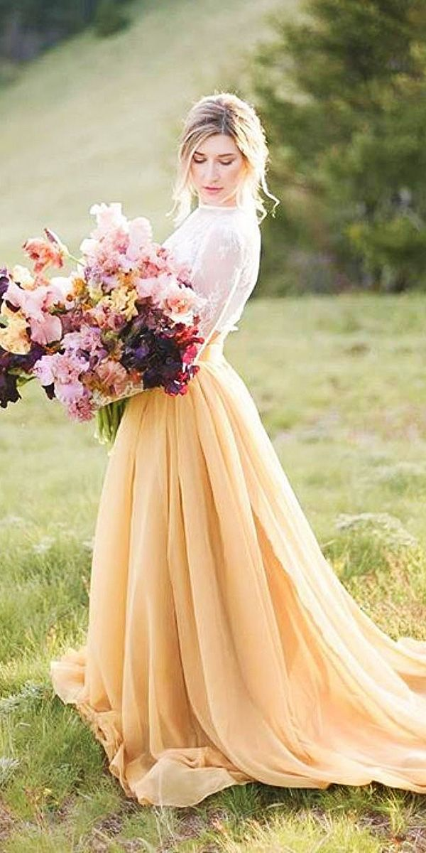 non traditional wedding dresses 24 colorful wedding dresses for non traditional 6185