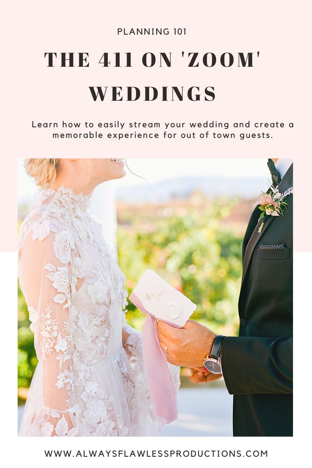 Learn How To Live Stream Your Wedding Wedding Planning Tips Tricks And Advice In 2020 Wedding Wedding Pro Wedding Advice