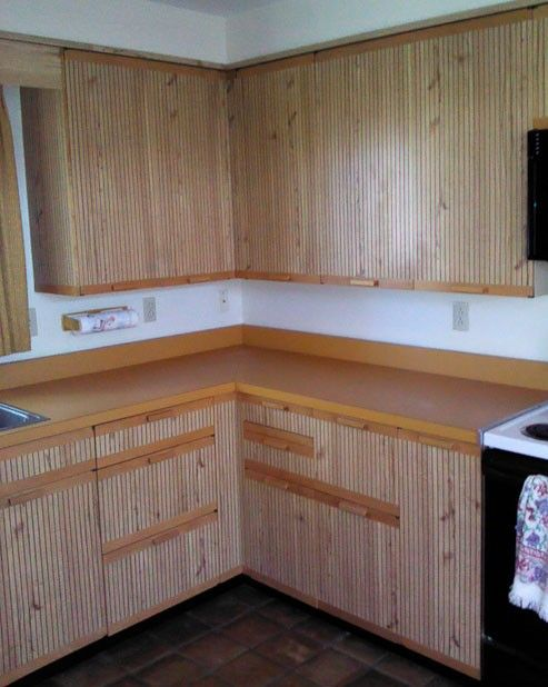 1978 St Charles Kitchen With Groovy Grooved Wood Doors 9 Photos Wood Doors Vintage Metal Cabinet Kitchen