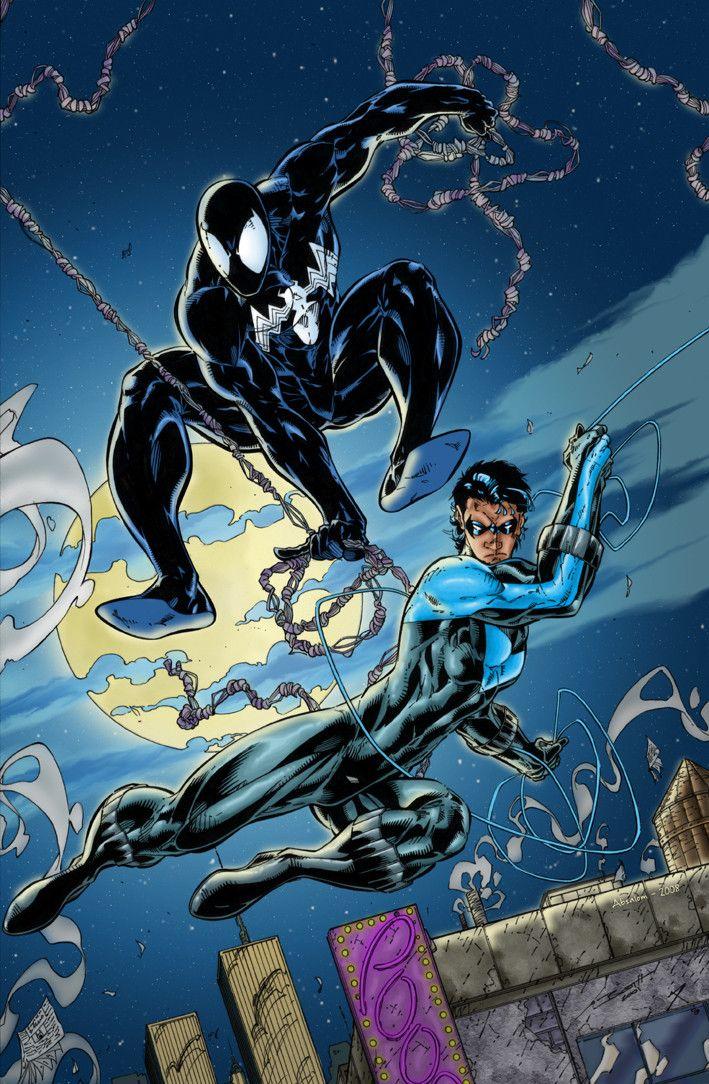 Spider-Man & Nightwing by Brett Booth | Brett Booth ...