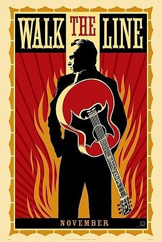 walk the line by sheperd fairey - johnny cash    #johnnycash #walktheline #poster #johnnycashposter