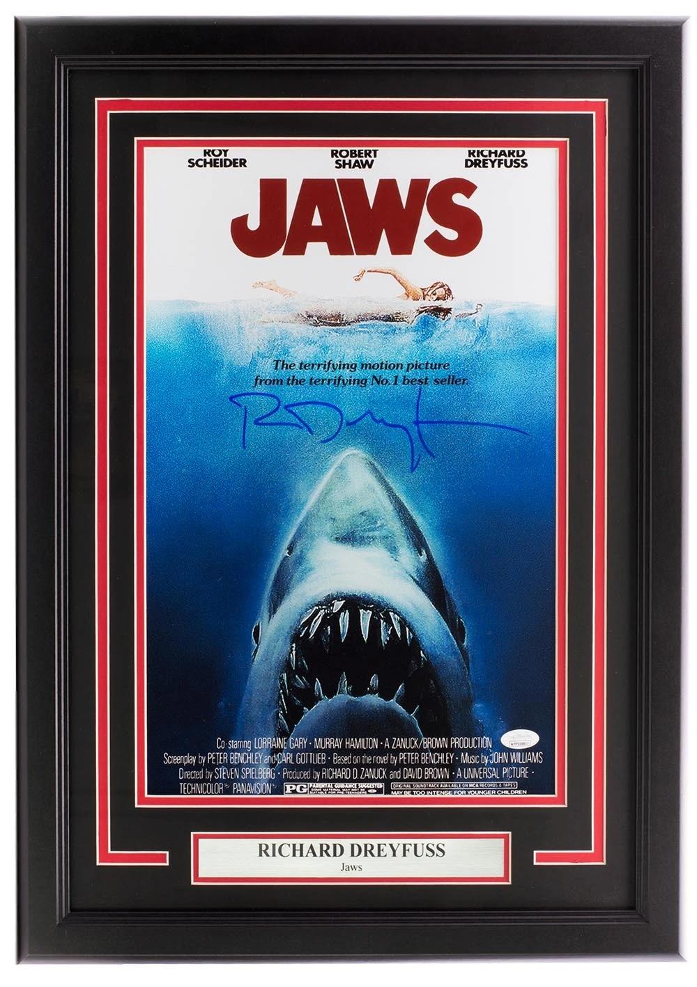 richard dreyfuss signed framed jaws