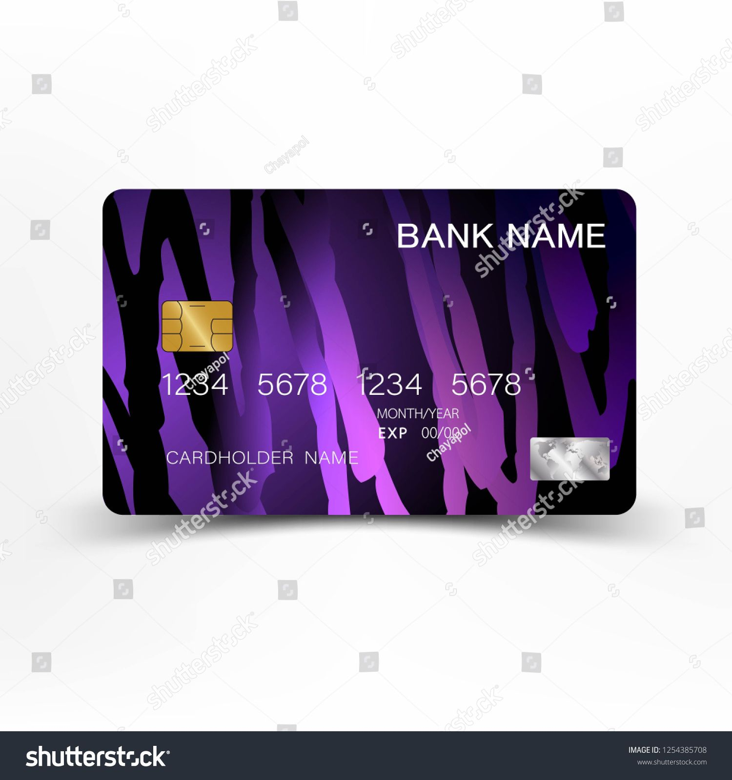 Purple Modern Credit Card Design With Inspiration From The