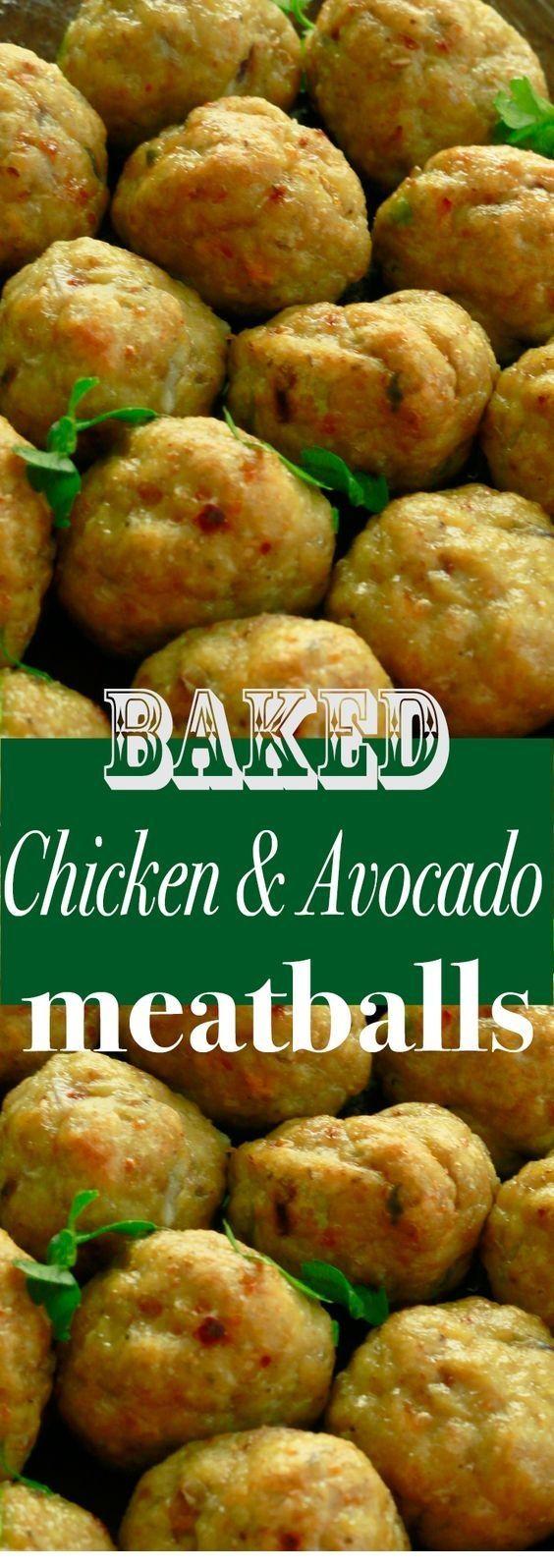 Healthy Avocado Recipes | Baked Chicken Avocado Meatballs - Healthy Avocado Recipes -