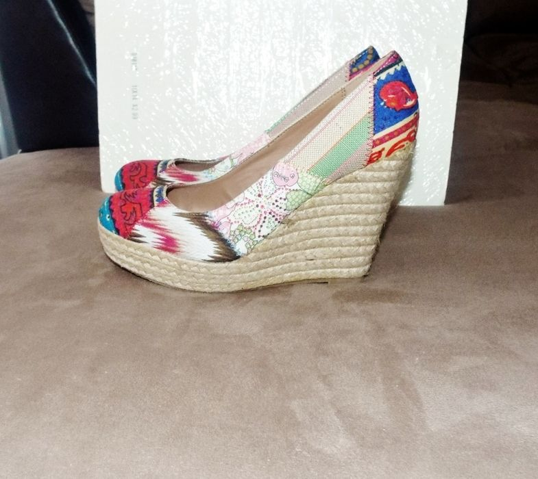 71138d12b755 Retro Look Canvas Rope Heel Platform Wedges 8.5 - vinted.com