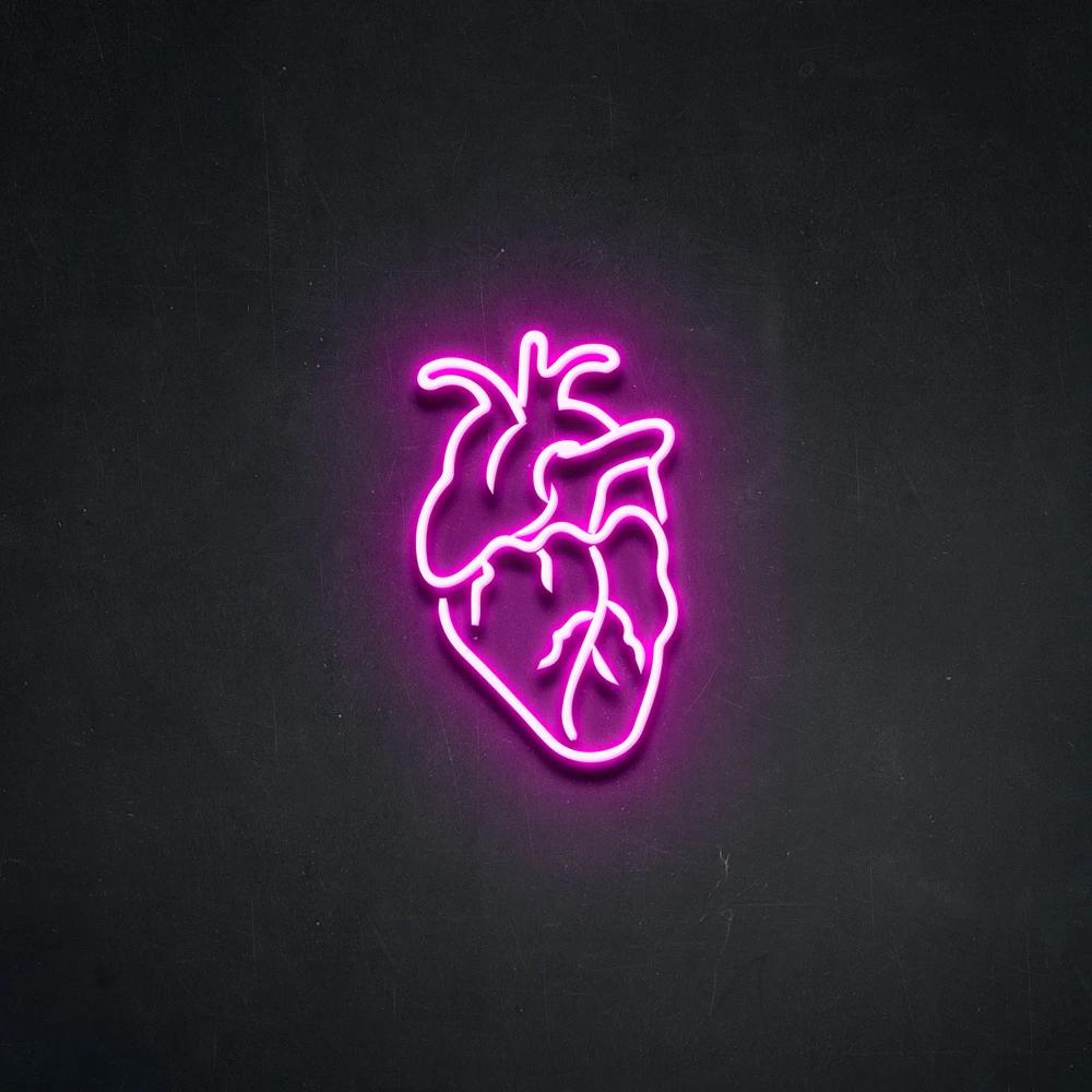 Human Heart Neon Sign Neon Beach Neon Signs Pink Neon Sign Neon Light Signs