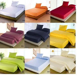 Free Shipping Solid Color Bed Ed Sheet 200 180cm King Size Simmons Mattress