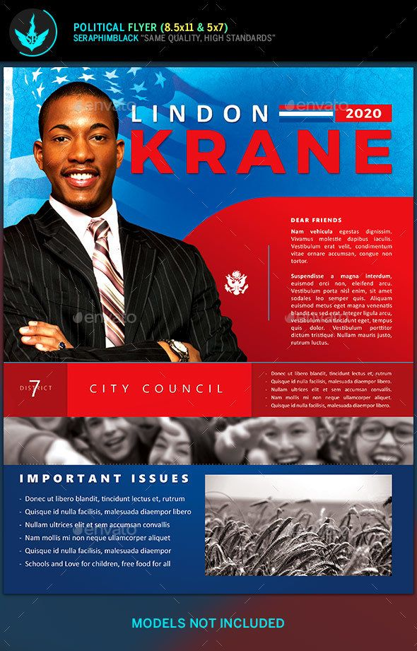 Political Candidate Flyer Template  Flyer Template Template And