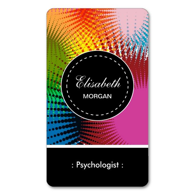 Psychologist colorful abstract pattern double sided standard psychologist colorful abstract pattern double sided standard business cards pack of 100 colourmoves Image collections