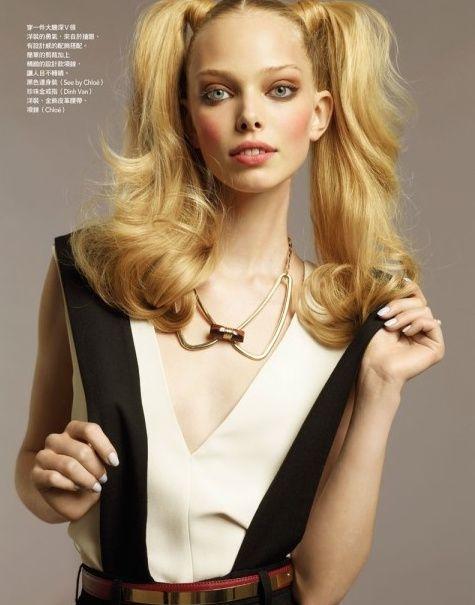 모델언니들이 자주하는 상큼한 양갈래 당고머리 헤어스타일을 알려드립니다! : 네이버 블로그
