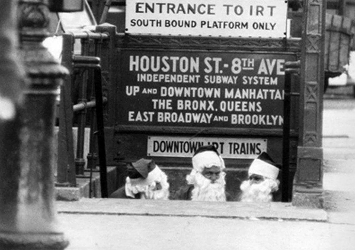 1958 New York Subway Map.Santas Nyc 1958 Bill Ray Photograph Old New York Nyc Subway