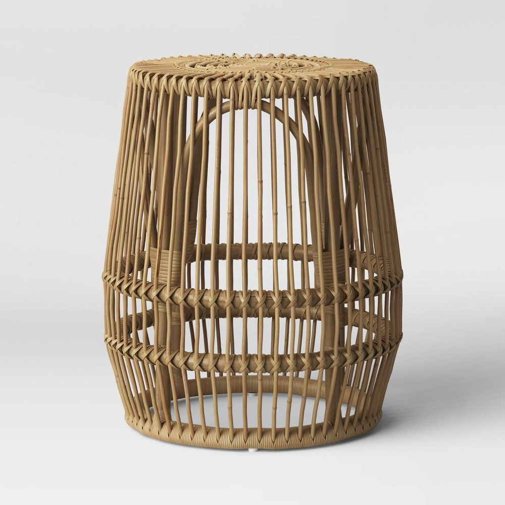 Pyronia Rattan Cage Accent Table Natural Opalhouse Cage Accent Table Cage Coffee Table Accent Table [ 1000 x 1000 Pixel ]