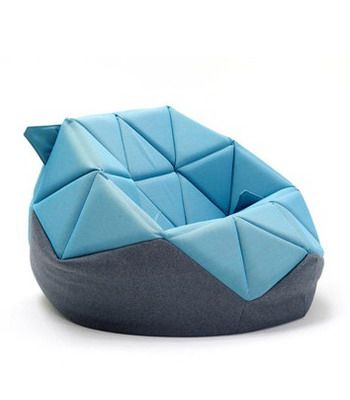 Marie By Freifrau Origami Inspired Bean Chair Modern Bag Chairs Bags