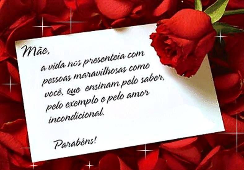 Parabéns Mãe Felicidades Felizaniversario Parabens Parabéns P