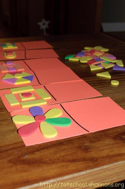 Foam Shape Puzzles Shannon S Tot School Shape Puzzles