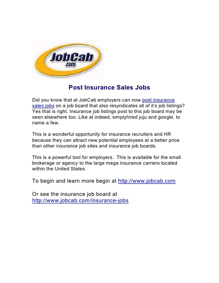 Post Insurance Sales Jobs Sales Jobs Sales Job Description All