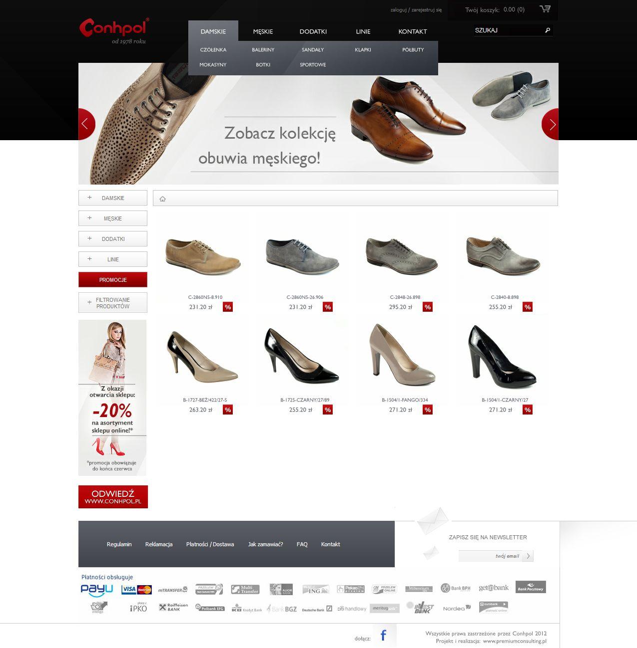 E Commerce For Shoes Producer Visit Online Www Sklep Conhpol Pl Ecommerce Online