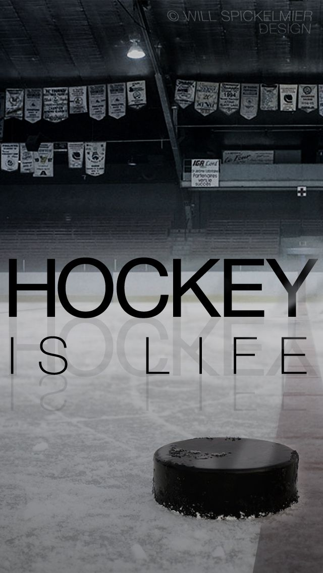 Hockey Is Life I Posted The Same Wallpaper A Little Earlier For The Iphone 4 But Here S The Version For The Iphone 5 Hockey Quotes Hockey Hockey Girls