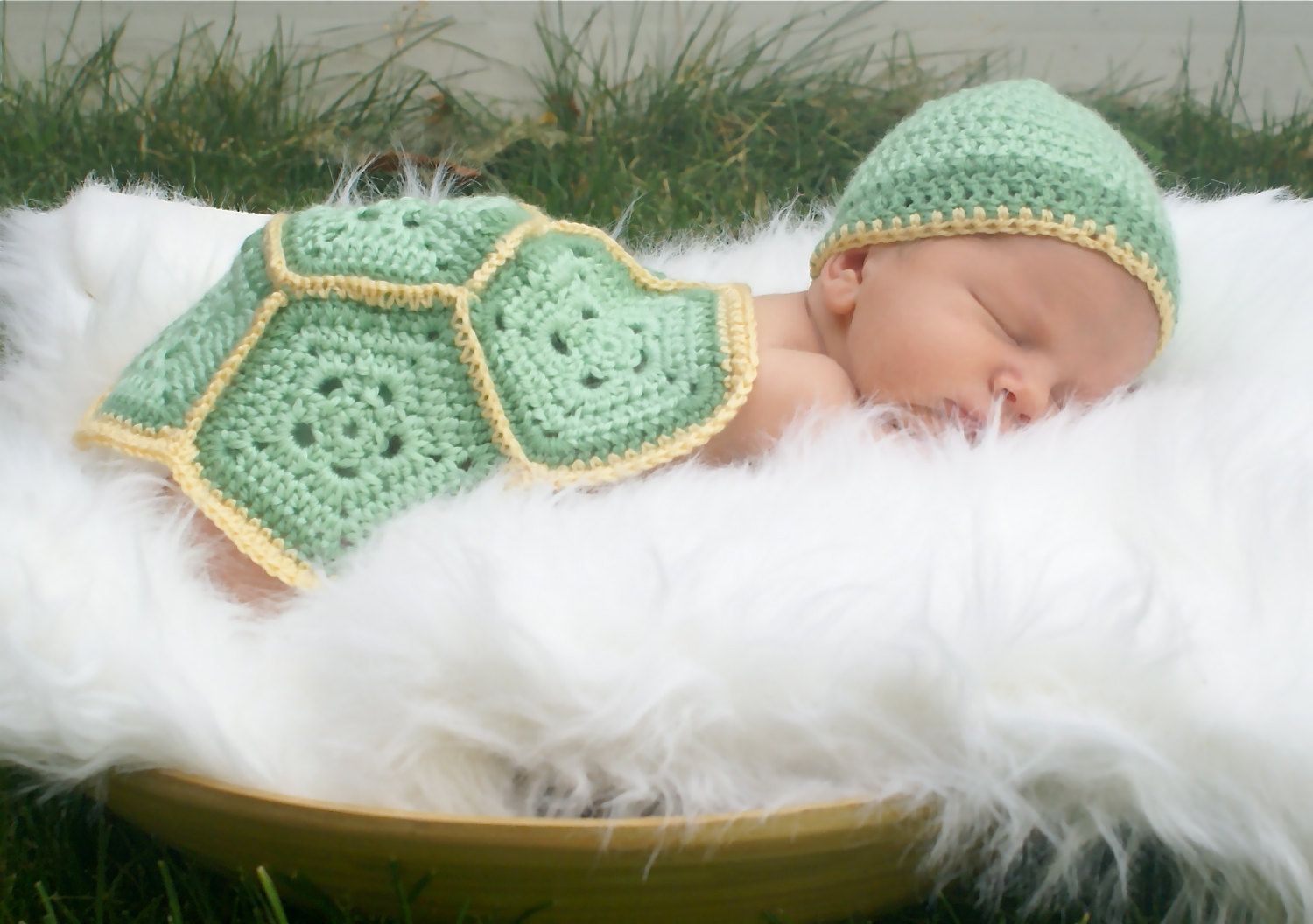 Baby turtle crochet outfit..newborn set... by Ellasbows on Etsy ...