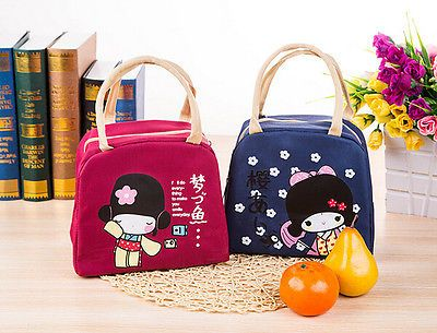 cc244d34bd0b Waterproof Cooler Insulated Lunch Box Portable Thermal Tote Cartoon ...
