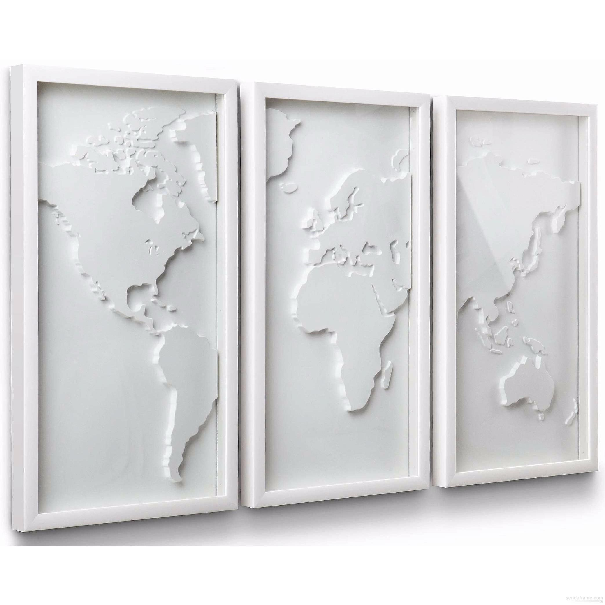 The original mapster 3 pc white relief world map by umbra picture the original mapster 3 pc white relief world map by umbra picture frames photo gumiabroncs Gallery