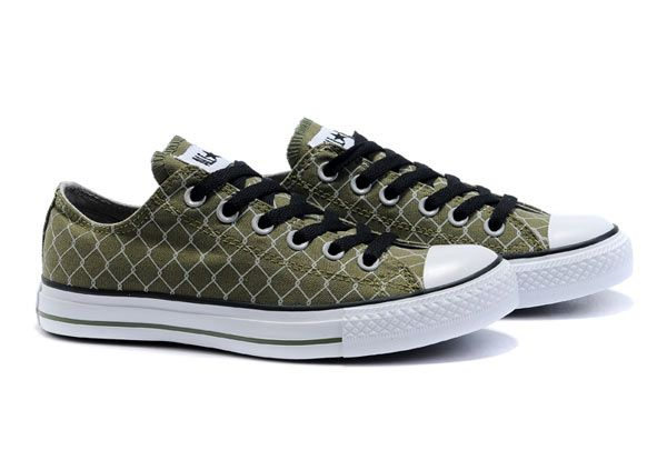 d39498c72c88 Converse Barbed Wire Low Top Army Green Canvas Black Shoelace Tennis Shoes