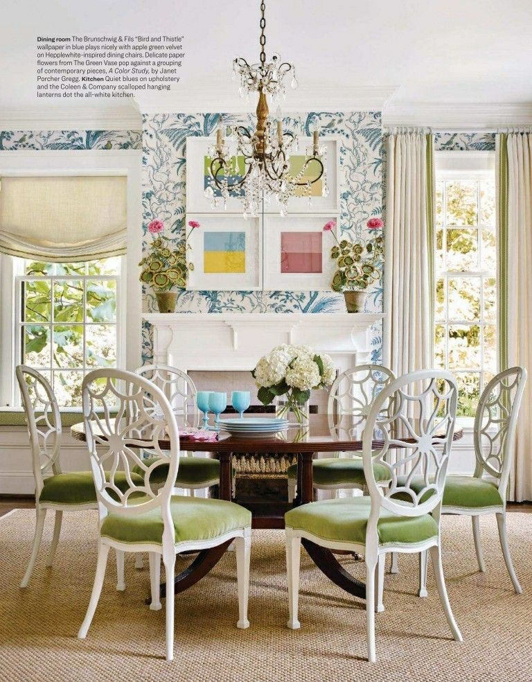 House Beautiful Magazine May June 2018 Green Dining Room Traditional Dining Rooms Home Decor