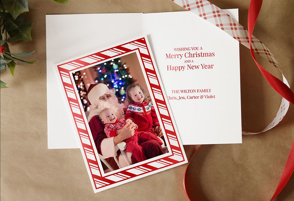 Make your own #DIY #Christmas cards with your 4x6 prints! Just slide ...