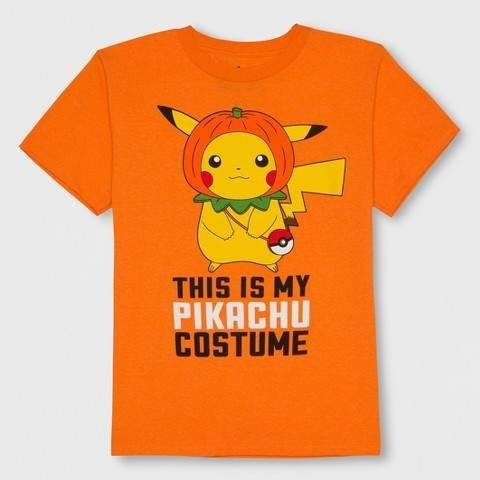 c66ab434 Boys' Pikachu Short Sleeve T-Shirt - Orange #sleeve#Short#Features ...