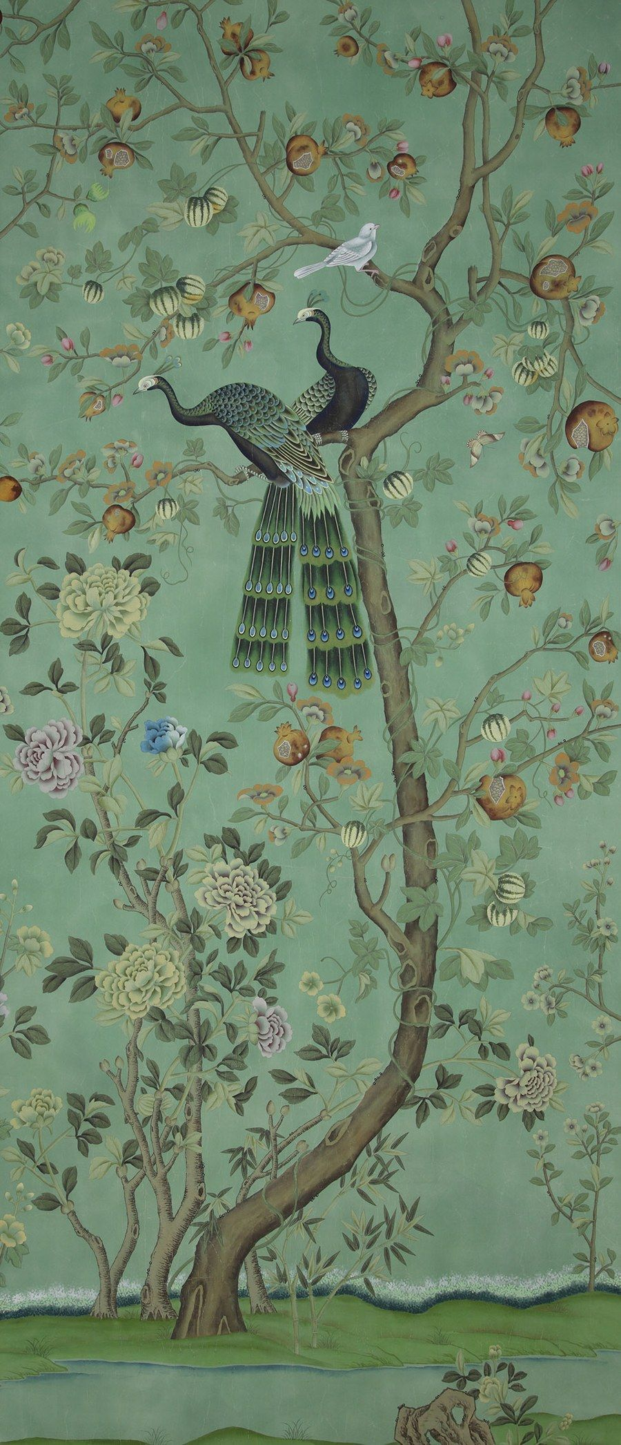 st laurent by de gournay chinoiserie. Black Bedroom Furniture Sets. Home Design Ideas
