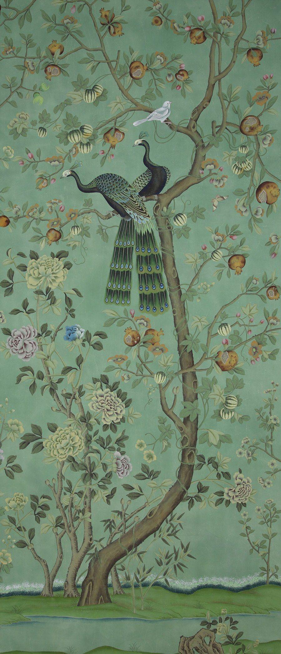 st laurent by de gournay chinoiserie chic pinterest papier peint peindre. Black Bedroom Furniture Sets. Home Design Ideas