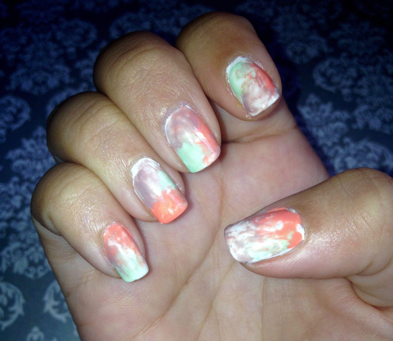 Uñas efecto acuarela Diseño de uñas Fácil | Arte de Uñas | Pinterest