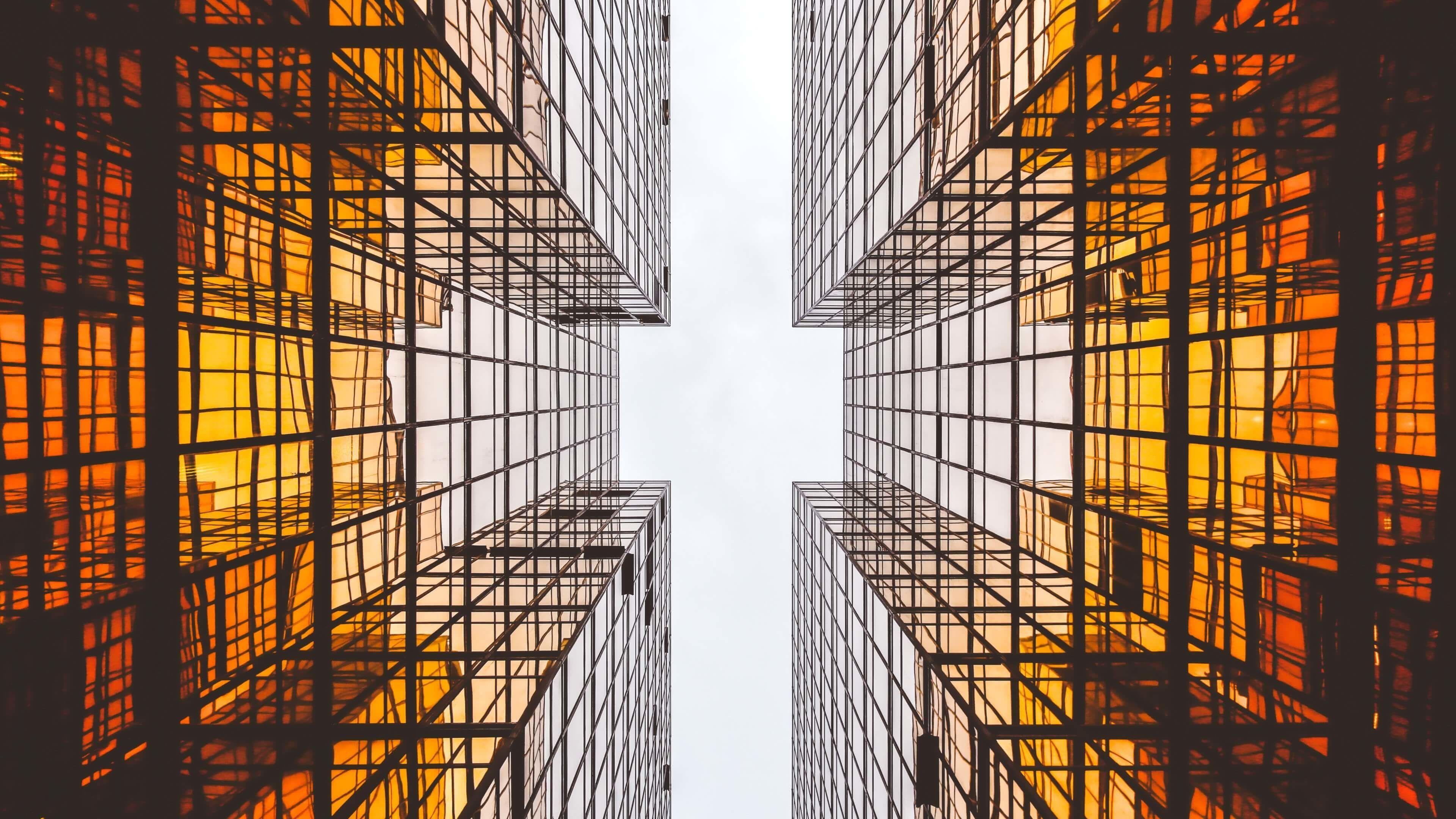 Modern Architecture Glass Skyscrapers 4k Wallpaper Desktop