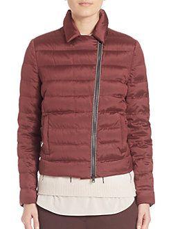 ed647d5bcf7d4 Brunello Cucinelli - Technical Silk Moto Jacket | Unnecessary ...